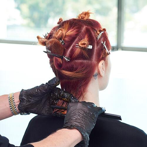Fire Red Quick Melt Hair Color Technique Step 11