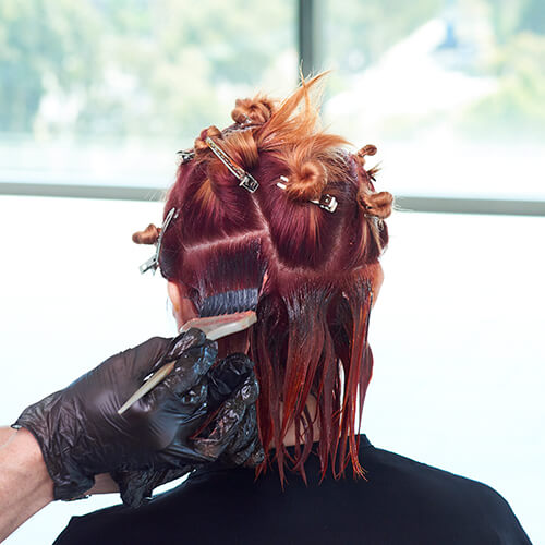 Fire Red Quick Melt Hair Color Technique Step 12