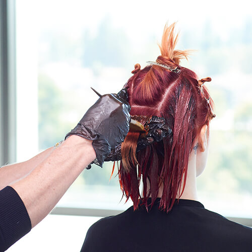 Fire Red Quick Melt Hair Color Technique Step 13