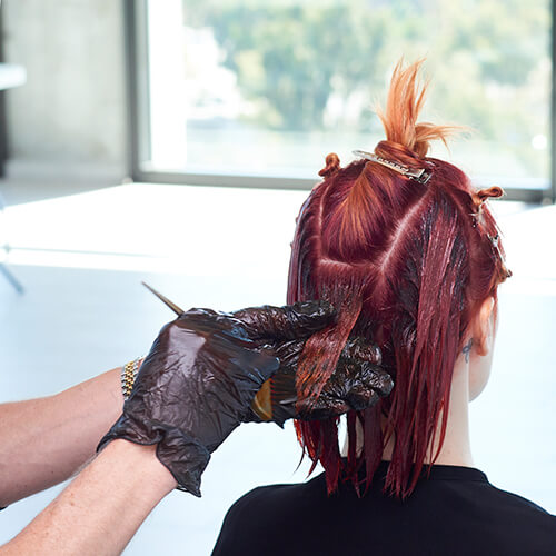 Fire Red Quick Melt Hair Color Technique Step 14