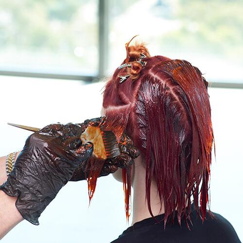 Fire Red Quick Melt Hair Color Technique Step 15