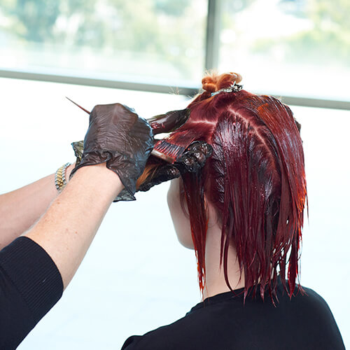 Fire Red Quick Melt Hair Color Technique Step 16