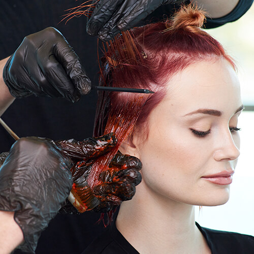 Fire Red Quick Melt Hair Color Technique Step 17