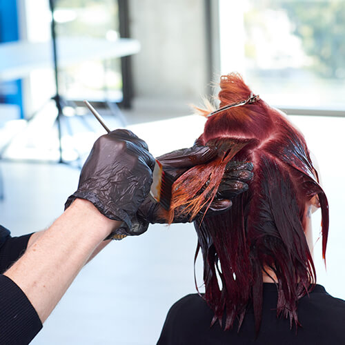 Fire Red Quick Melt Hair Color Technique Step 18