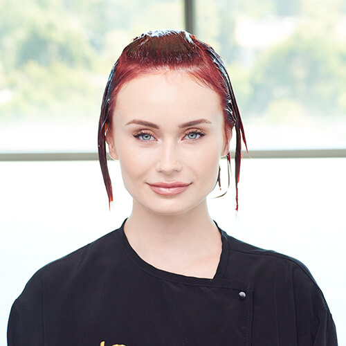 Fire Red Quick Melt Hair Color Technique Step 19