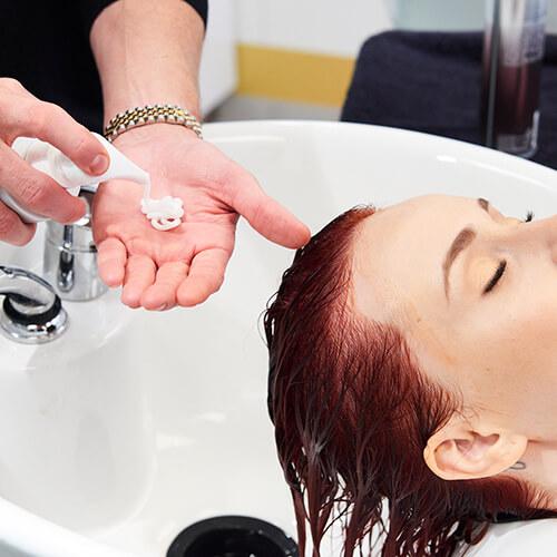 Fire Red Quick Melt Hair Color Technique Step 21