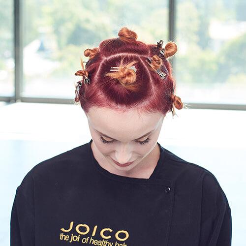 Fire Red Quick Melt Hair Color Technique Step 9