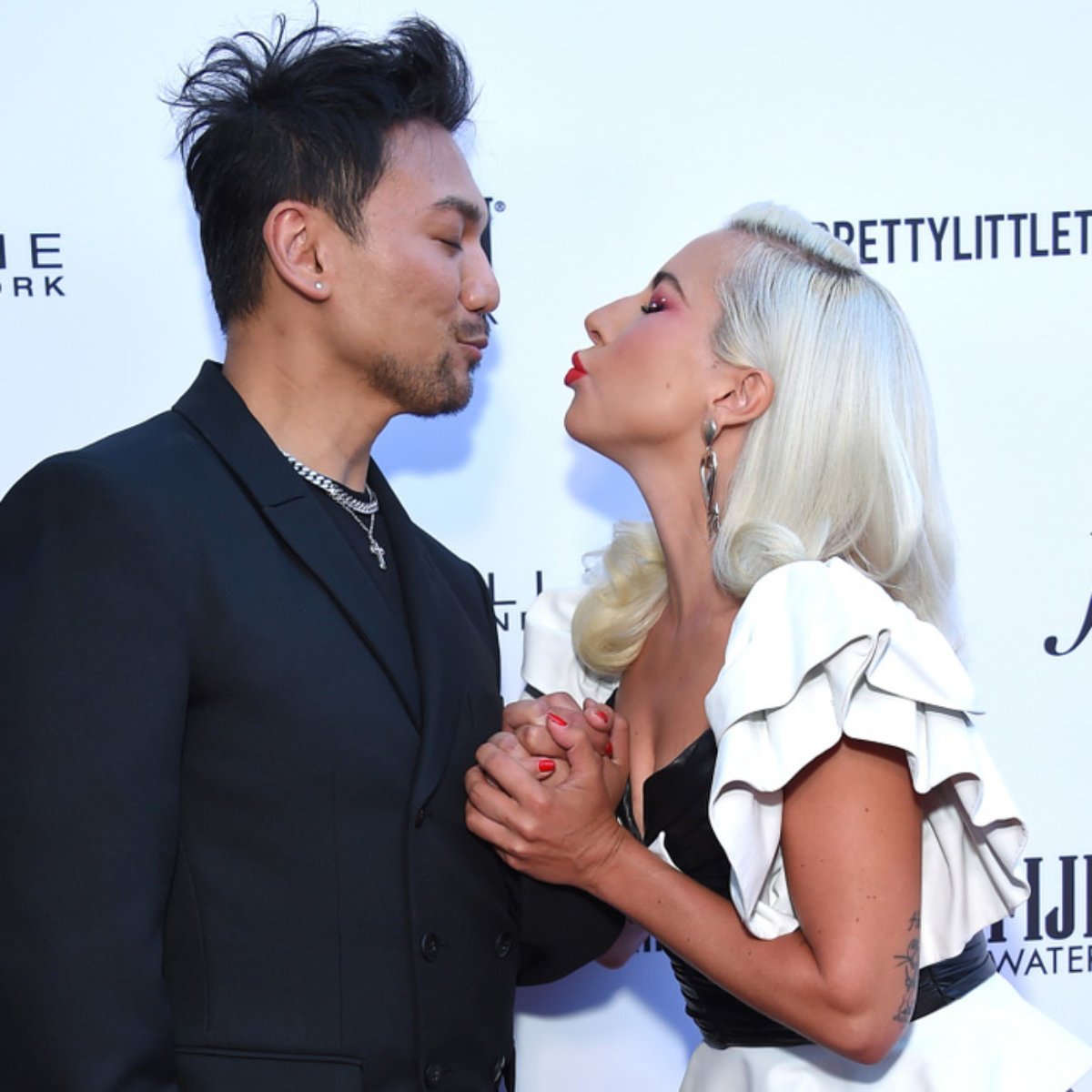 Lady Gaga and Fredric Aspiras award show