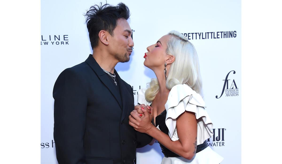 Lady Gaga and Fredric Aspiras award show