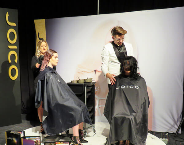 Marc-André Poulin doing hair for models