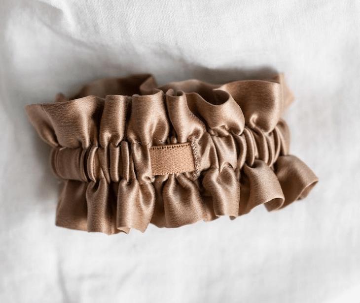 Silk hair scrunchie to keep curls in tact while sleeping