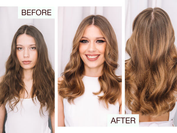 Larisa Love client hair before and after