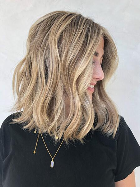 Jill Buck's client showing blonde highlights