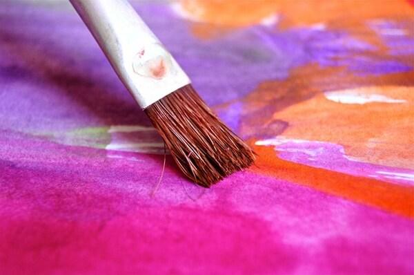 Paint Brush on canvas