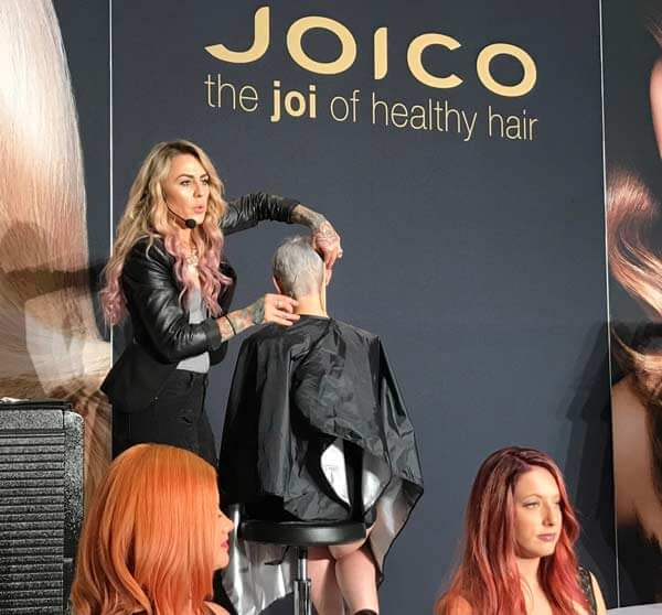 Joico Guest Artist on stage at hair show