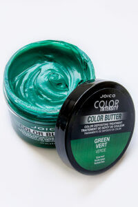 Color Butter Green jar open showing product