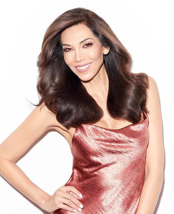 Model with full brunette hair