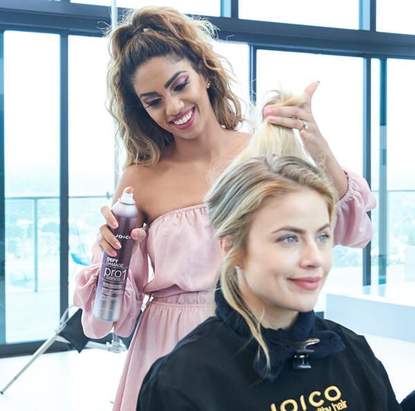 Women getting hair done at a hair salon