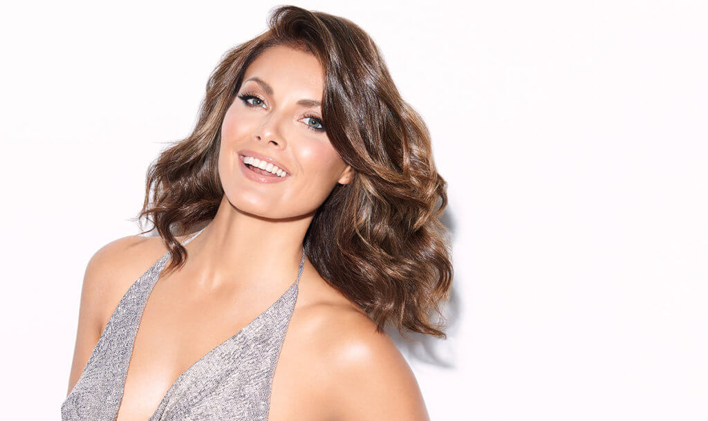 Women with beautiful brunette hair