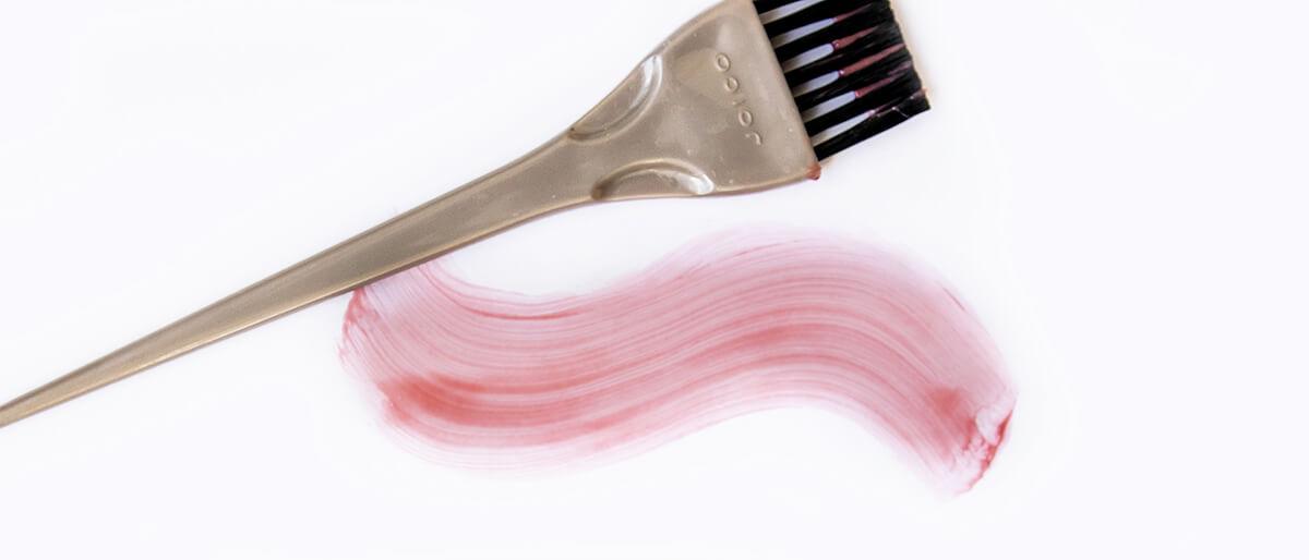 Hair dye swatch rose gold
