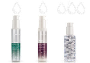 Joico hair product bottles