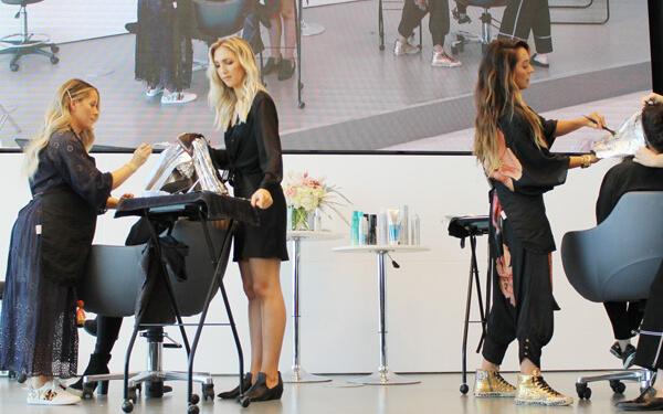 Hair Dresser dying models hair