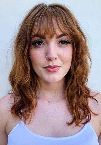 Model with red hair