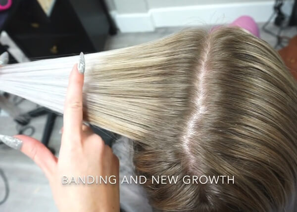 Hair showing roots
