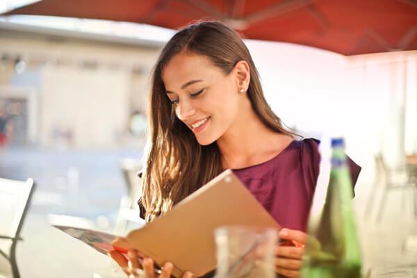 Women reading a book