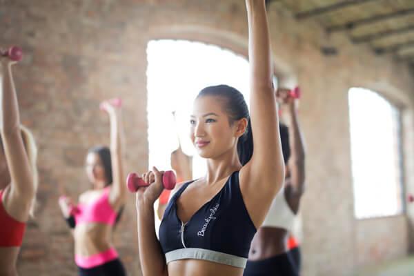 Women in workout class