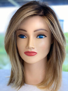 Mannequin with highlighted hair