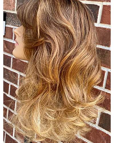 Mannequin after highlighted hair