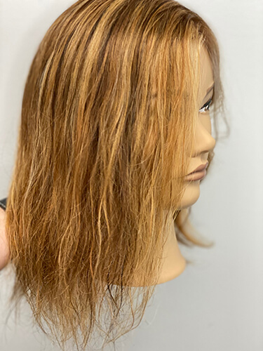 Mannequin before highlighted hair