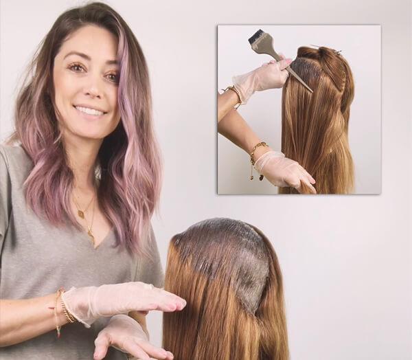 Stylist Jill Buck Coloring Clients hair