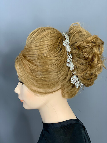 Mannequin head with updo