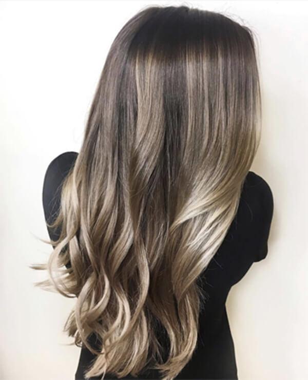 Pale Ash Blonde hair color