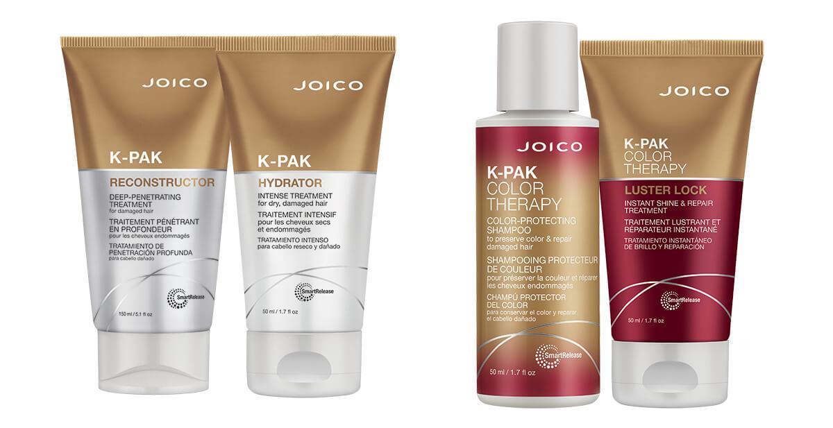 Joico K-PAK & K-PAK Color Therapy travel size bottles