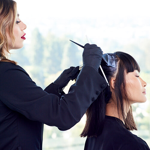 Client getting hair colored