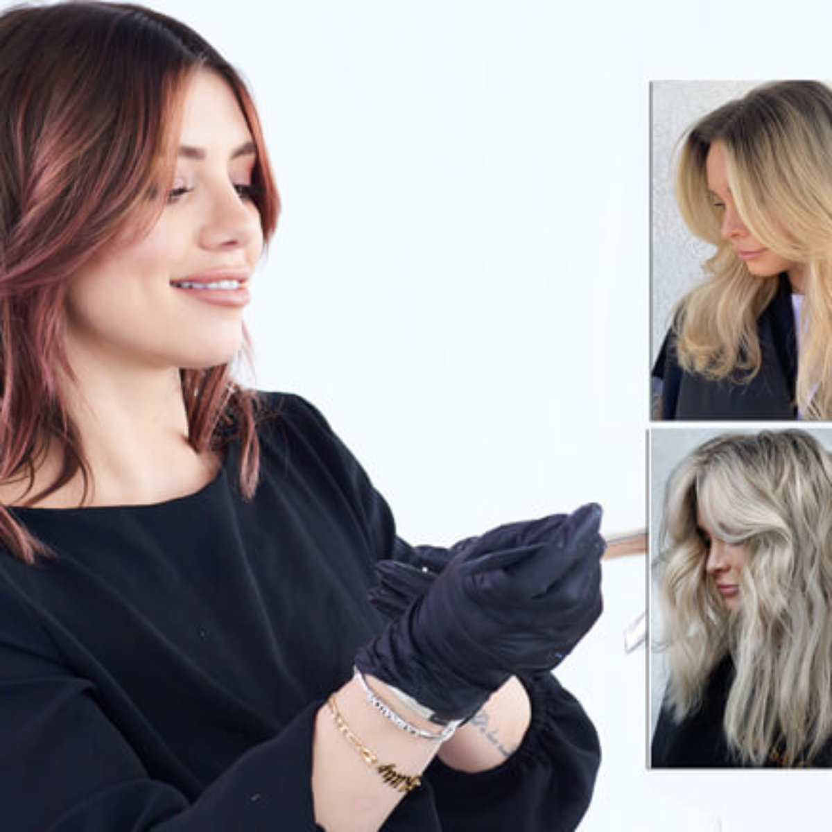 Hairstylist Larisa Love with hands in hair