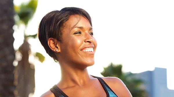 Women smiling outdoors