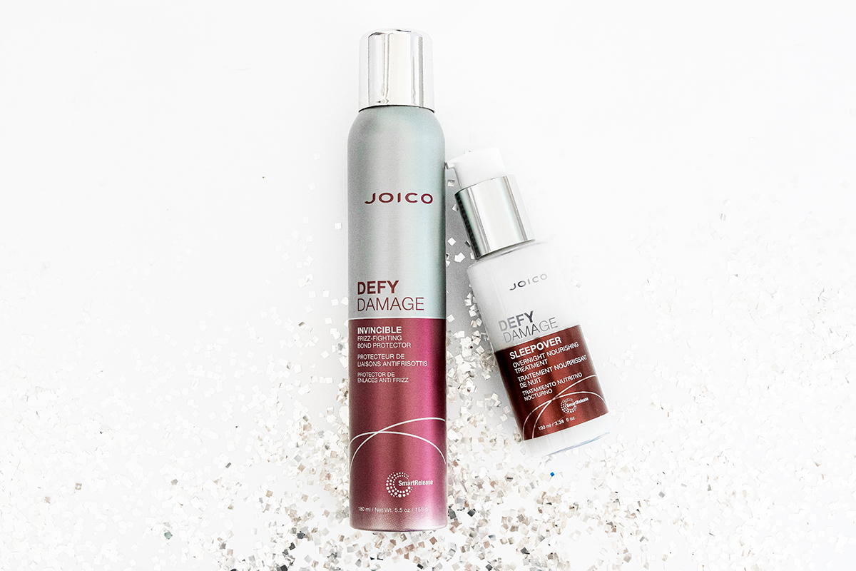 Joico Defy Damage Sleepover & Invincible bottles