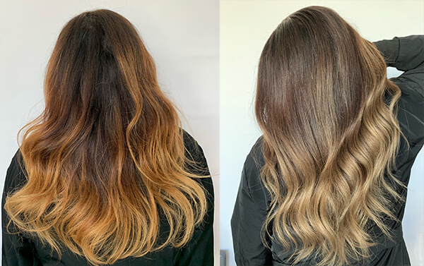 before and after pictures hair color