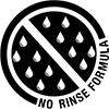 no rinse formula badge