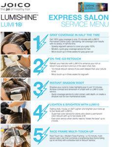 Express Salon service menu